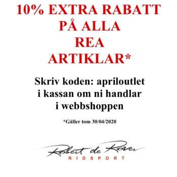10% extra rabatt på alla REA artiklar tom 30 april